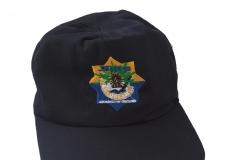 Topi SMP warna hitam depan