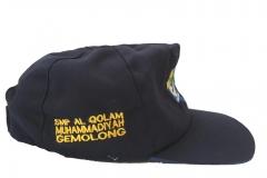 Topi SMP warna hitam samping